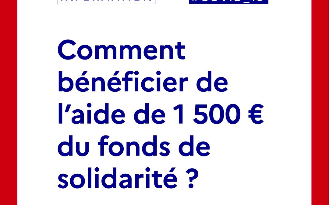 [Covid 19] – Le fond de solidarité, quelles démarches pour quelles entreprises ?